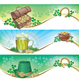 St Patricks Day horizontal banners vector image vector image