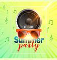 summer party flyer design with speaker vector image