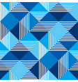 summer sea blue geometry seamless pattern vector image vector image