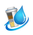 symbol of filtration and water purification vector image vector image