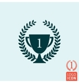 Trophy laurel wreath icon vector image