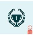 Trophy laurel wreath icon vector image vector image