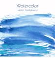 turquoise blue indigo watercolor vector image vector image