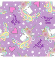 unicorn seamless pattern unicorns with a rainbow vector image vector image