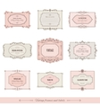 Vintage calligraphic frames and labels set