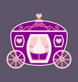 vintage horse carriage with florid ornament and vector image