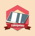 vintage videogames design vector image