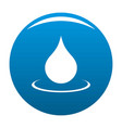 water drop icon blue vector image
