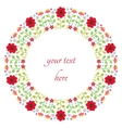 floral design in circle vector image