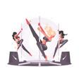 girls dancing on pylon vector image