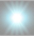 rays of light aqua color vector image