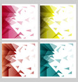 abstract blurred background with hipster triangles vector image vector image