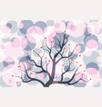 abstract colorful circle tree vintage pattern vector image vector image