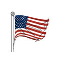 american flag continuous line vector image vector image