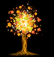 artistic autumn tree vector image vector image