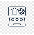 automation concept linear icon isolated on vector image