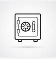 bank safe flat line trendy black icon eps10 vector image