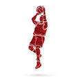 basketball player action vector image vector image