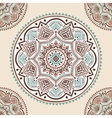Beautiful filigree Indian floral ornament Ethnic vector image vector image
