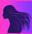 beautiful girl with long thick wavy hair beauty vector image