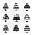 Birthday and Wedding Cakes in Vintage Style vector image vector image