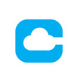 c for cloud logo vector image
