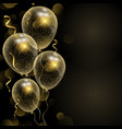 celebration background with glittery gold balloons vector image vector image