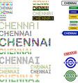 Chennai text design set vector image vector image