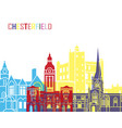 chesterfield uk skyline pop vector image vector image