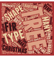 Christmas Tree Types text background wordcloud vector image vector image