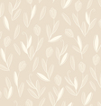 clear floral white on biege seamless pattern vector image vector image