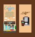 coffee shop vertical flyers vector image vector image