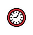 cute cartoon wall clock vector image vector image