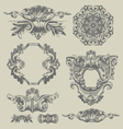decorative vintage engravings vector image vector image