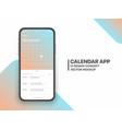 design template calendar 2020 app ui ux concept vector image vector image