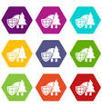 environment protection icons set 9 vector image vector image