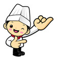 executive chef character is taking a promise vector image vector image