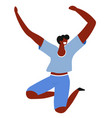 feeling and emotion jumping happy man cheerful vector image