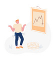 financial crisis risk and depreciation concept vector image vector image
