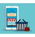 Flat of shopping design vector image