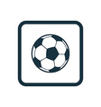 football ball icon Rounded squares button vector image vector image