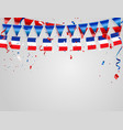 france flags celebration background template with vector image