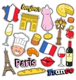 France Travel Scrapbook Stickers Patches Badges vector image vector image
