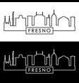 fresno city skyline linear style editable file vector image vector image