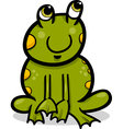frog animal cartoon vector image vector image
