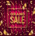 glitter gold grand sale sign vector image