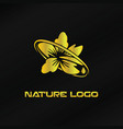 gold nature logo template vector image vector image