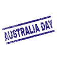 grunge textured australia day stamp seal vector image vector image