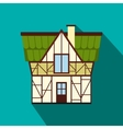 Half timbered house in Germany iconflat style vector image vector image