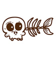 Hand Drawn Fish Skeleton vector image vector image